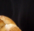 Steaming hot Thermomix bread.