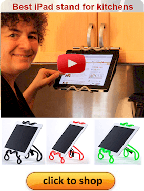 click to see the best ipad stand for kitchens in action