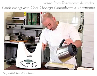 Thermomix dessert recipe video with George Calombaris