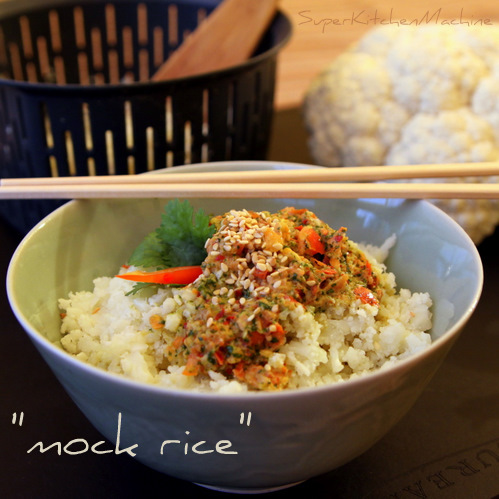Thermomix recipe for cauliflower rice or mock rice