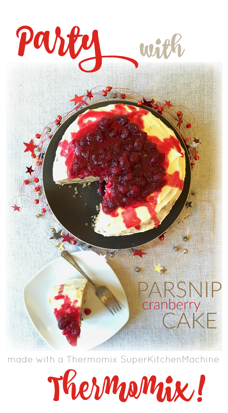 Parsnip Cake with Cranberry-Orange Sauce