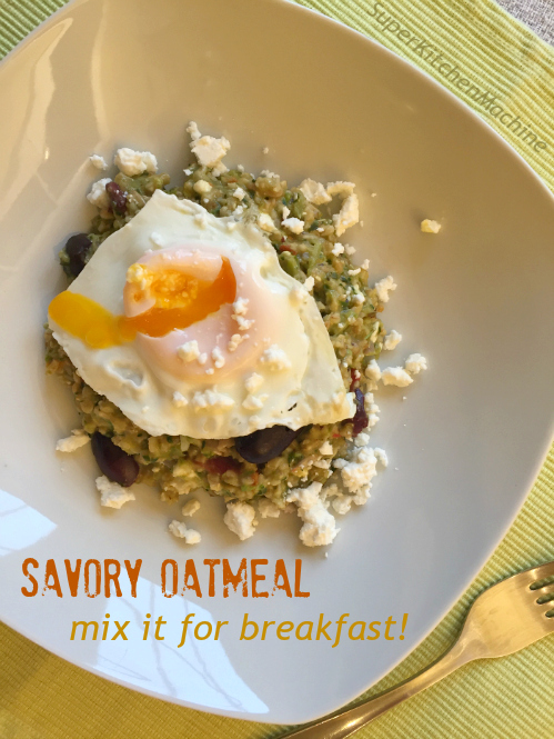 Savory Oatmeal breakfast recipe for Thermomix TM5