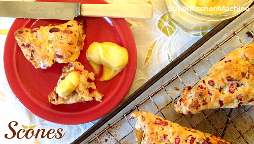 Thermomix scones with citrus curd