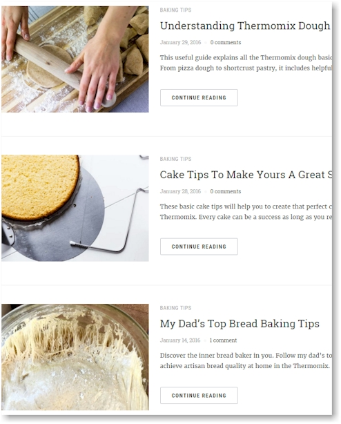 Thermomix baking tips by Sophia