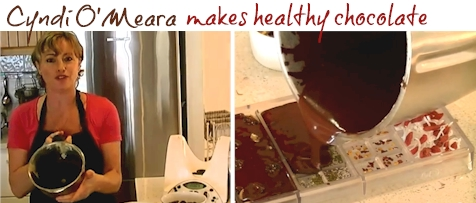 How to make healthy chocolate with Thermomix by Cyndi O'Meara