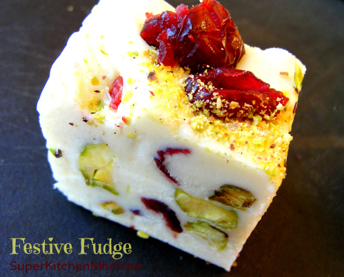 Thermomix recipe whitle chocolate Pistachio Cranberry Fudge